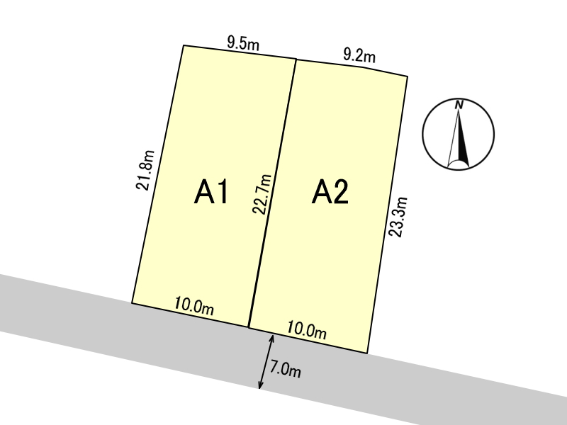 トライアル宮崎恒久店、宮崎農業高等学校の近くにある2区画分譲地(A2号地)です。