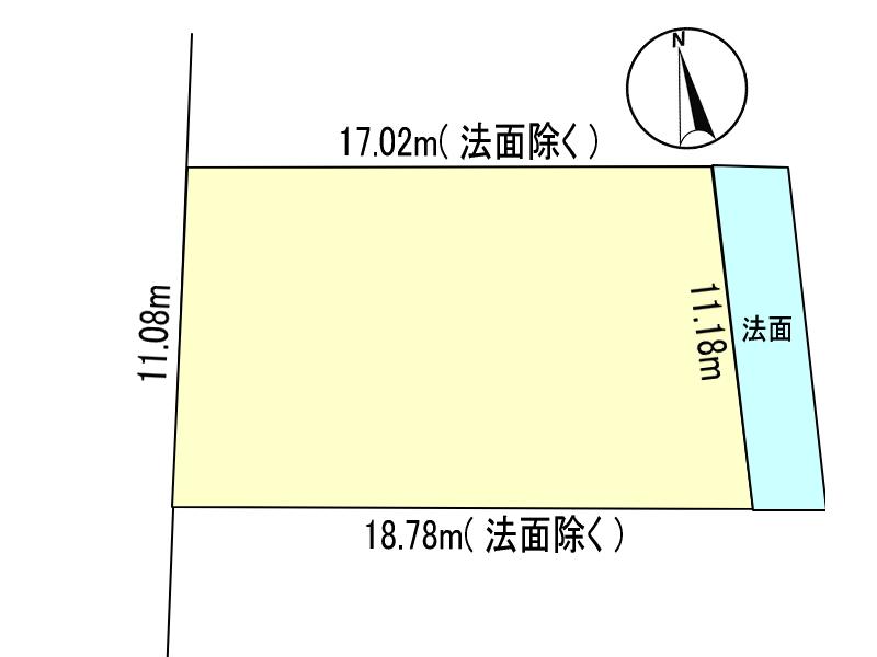 小松台東1丁目/土地/上下水道引き込み済み/1号地/測量図