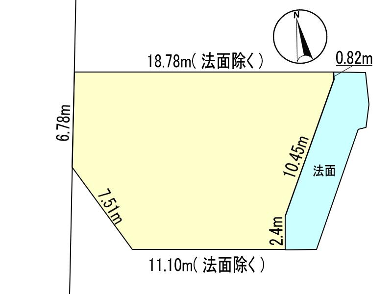 小松台東1丁目/土地/上下水道引き込み済み/2号地/測量図