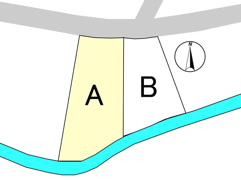 10号線から1本入った大塚町の閑静な住宅地にある新築用地A号地です。