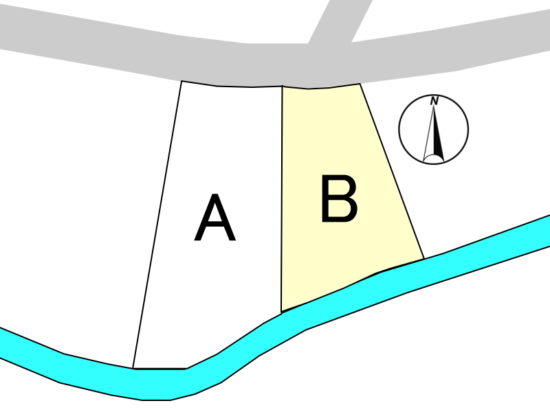 10号線から1本入った大塚町の閑静な住宅地にある新築用地B号地です。