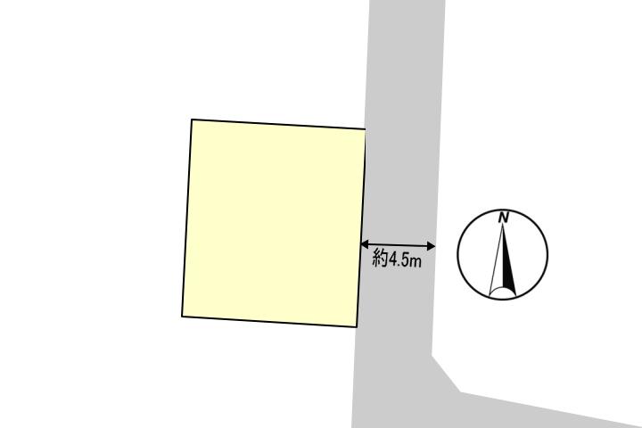 建物や庭、駐車場の配置がしやすい整形地です。