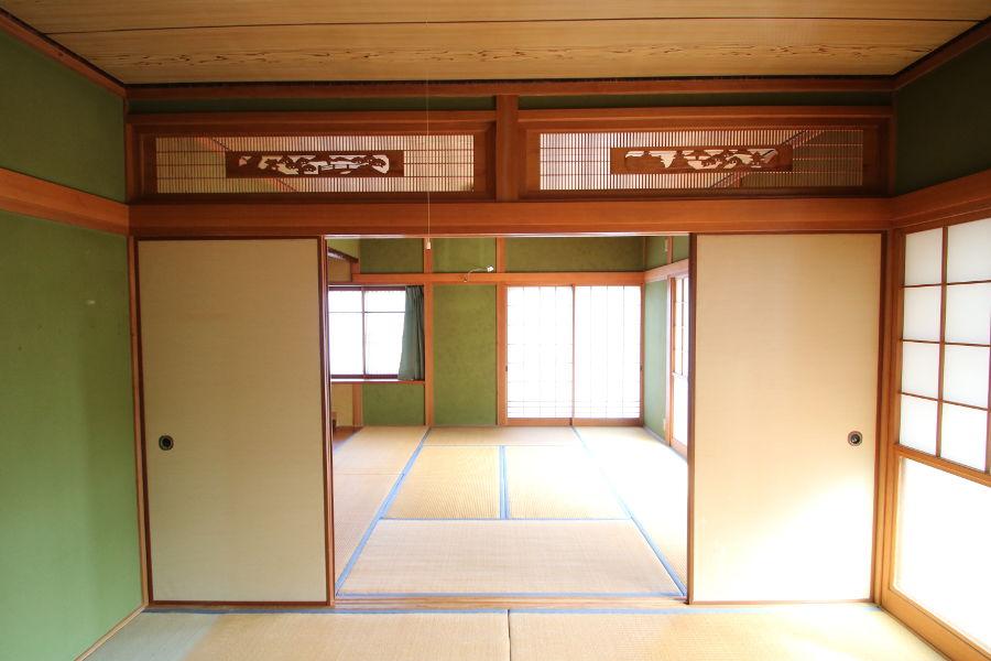 8帖と6帖の続き間の和室。