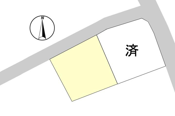 ほぼ整形地なので、間取りや駐車場、庭などの配置がしやすい土地です。