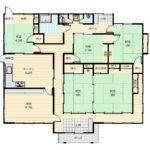 間取りは和室が5部屋と応接室(洋間)が1部屋の6DKです。