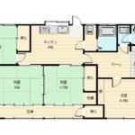 使いやすい4DK。本間サイズなので各居室が広々としています。