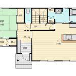 生活動線と家事動線が良く考えられている住みやすい間取りです。