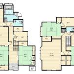部屋数も多く使いやすい5LDK+2Sの間取りです。