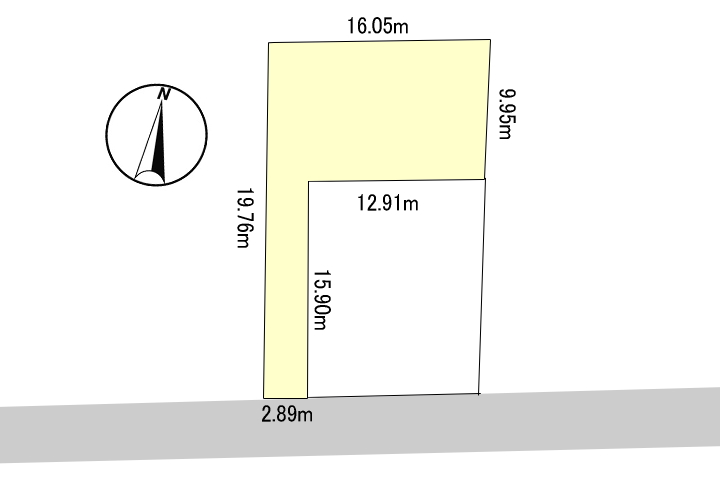 本物件はプライベートな空間を確保した旗竿地(敷地延長)の新築用地です。