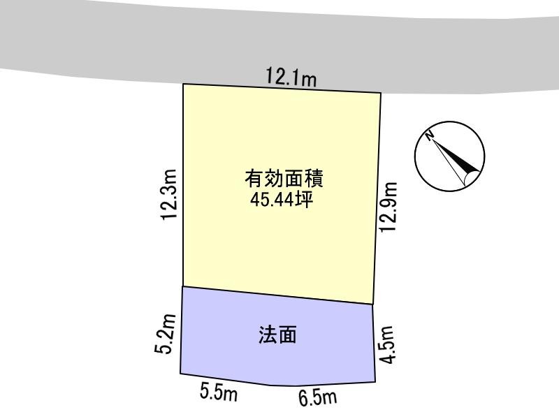 高台で人気の月見ヶ丘4丁目の新築用地です。 全3区画の分譲地、残り1区画。