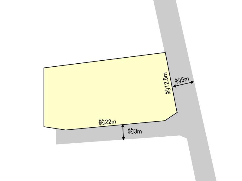 桜ヶ丘町/土地/東南角地、上下水道完備