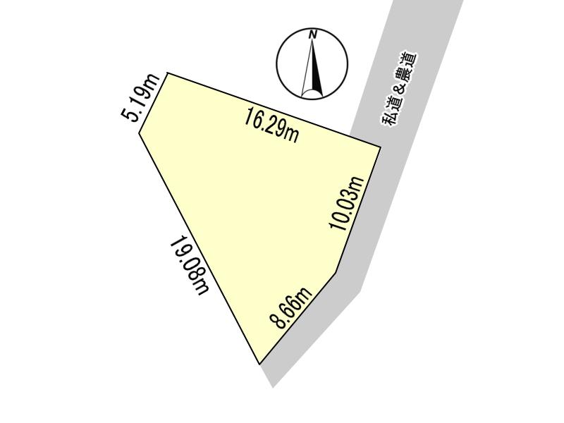 高岡町の高浜地区の分譲地、『ニュータウン高房台』にある売地です。