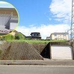 小松台団地にある西道路の新築用地です。