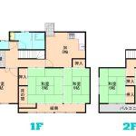 建物はホール面積を抑えた無駄のない5DK。日当たりや風通しも良い全室南向きの居室。